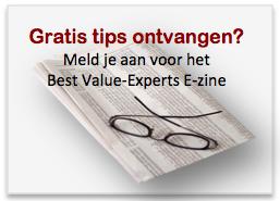 Gratis tips ontvangen? Meld je aan voor het Best Value-Experts E-zine